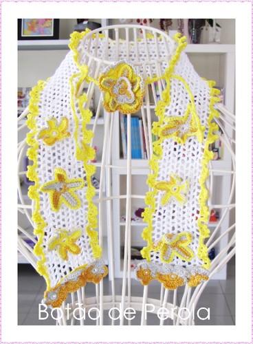 Gola de crochet